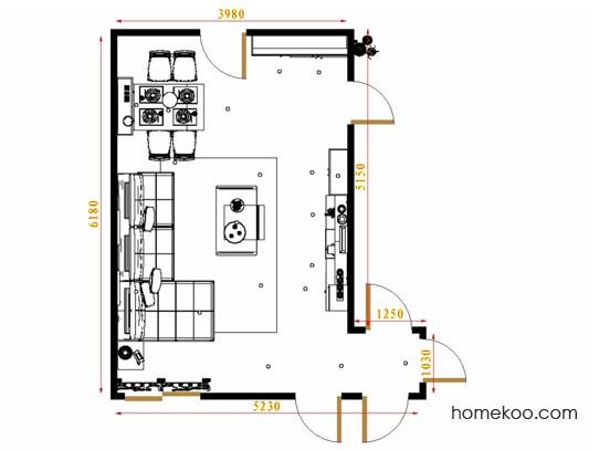 平面布置图德丽卡系列客餐厅G16685