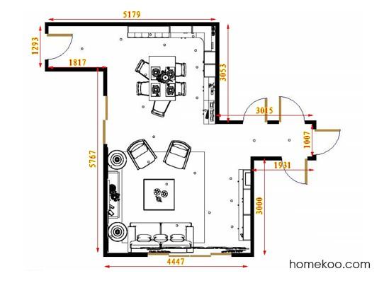 平面布置图斯玛特系列客餐厅G16757