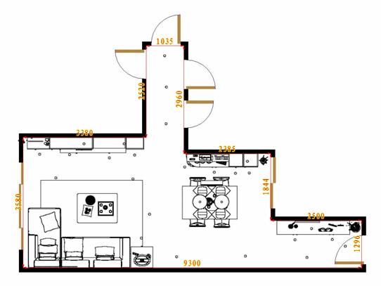 平面布置图柏俪兹系列客餐厅G16822