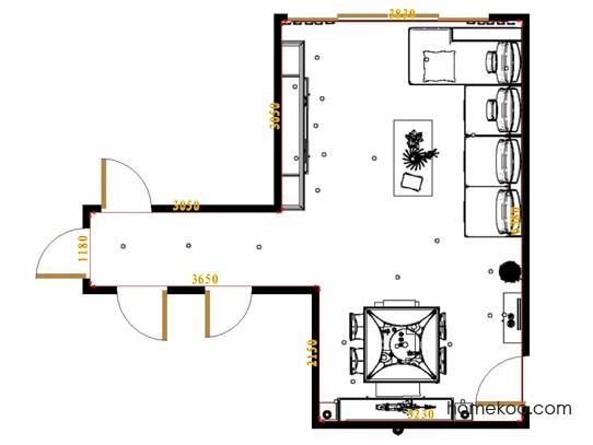平面布置图德丽卡系列客餐厅G16839