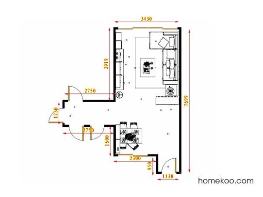 平面布置图北美枫情客餐厅G16850
