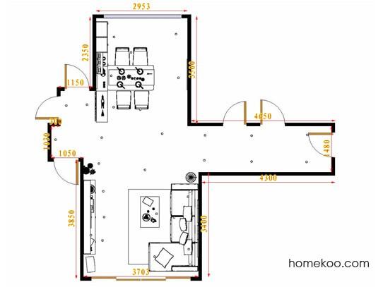平面布置图斯玛特系列客餐厅G16871