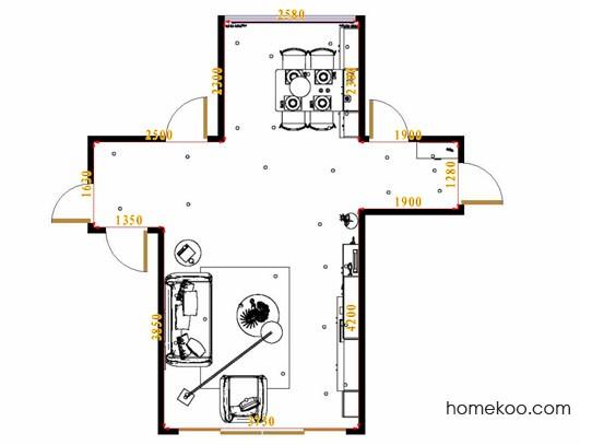 平面布置图贝斯特系列客餐厅G16879