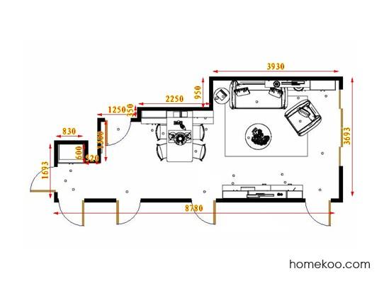 平面布置图德丽卡系列客餐厅G16883