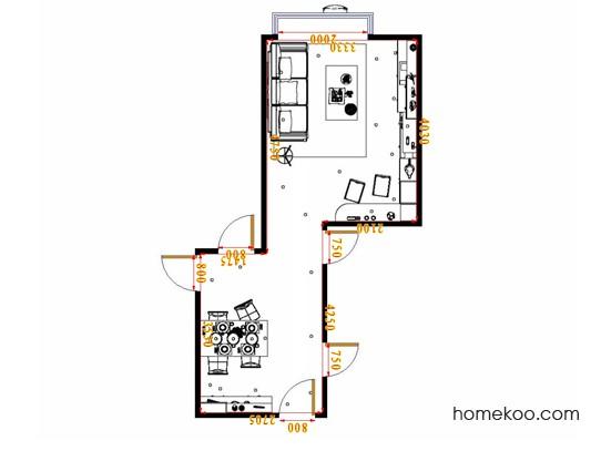 平面布置图北美枫情客餐厅G16890