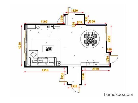 平面布置图乐维斯系列客餐厅G16903