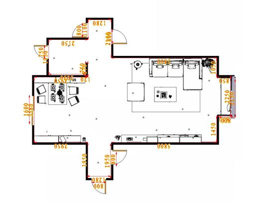 平面布置图乐维斯系列客餐厅G16902
