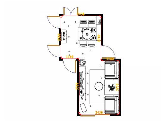 平面布置图斯玛特系列客餐厅G16909