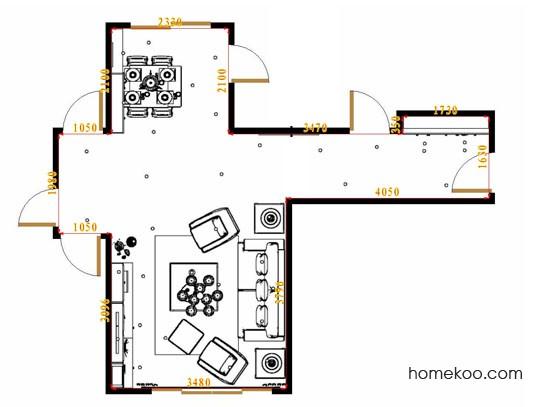 平面布置图格瑞丝系列客餐厅G16910