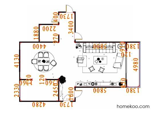 平面布置图斯玛特系列客餐厅G16919