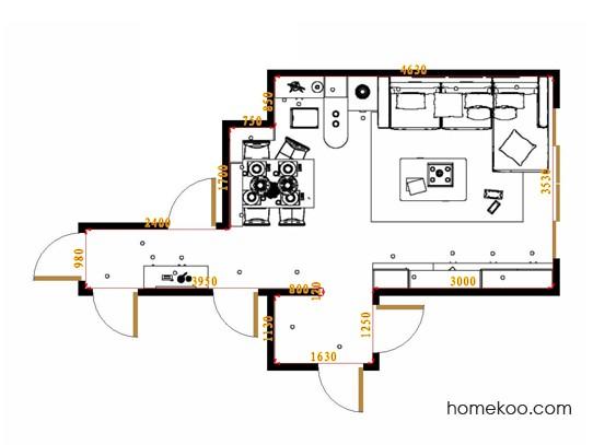 平面布置图米兰剪影客餐厅G17020