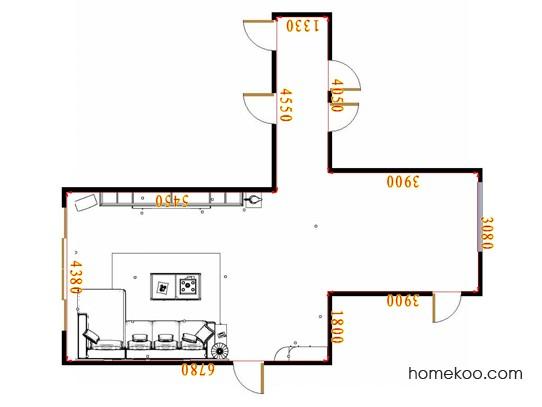 平面布置图乐维斯系列客厅D16862