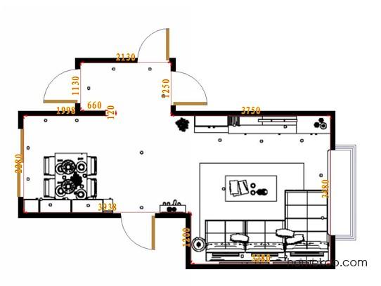平面布置图格瑞丝系列客餐厅G17039