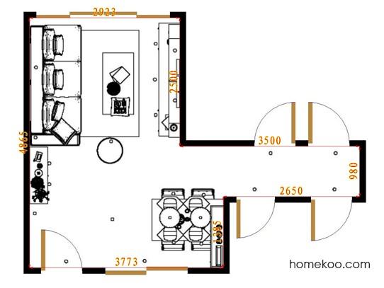 平面布置图贝斯特系列客餐厅G17043