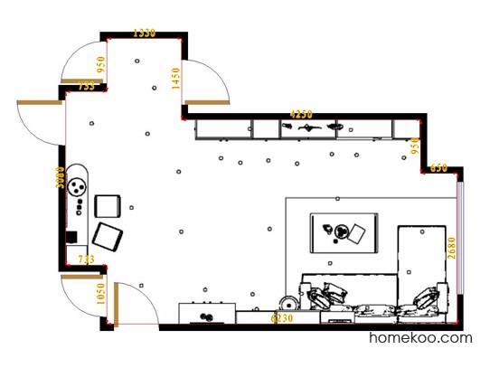 平面布置图米兰剪影客餐厅G17065
