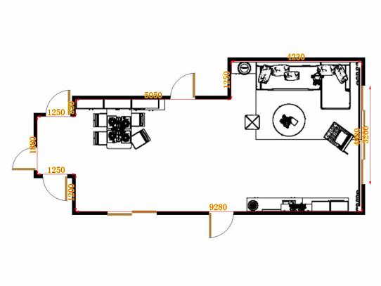 平面布置图格瑞丝系列客餐厅G17078