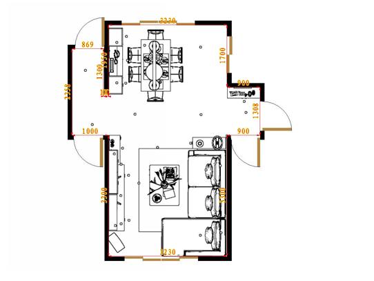 平面布置图斯玛特系列客餐厅G17073
