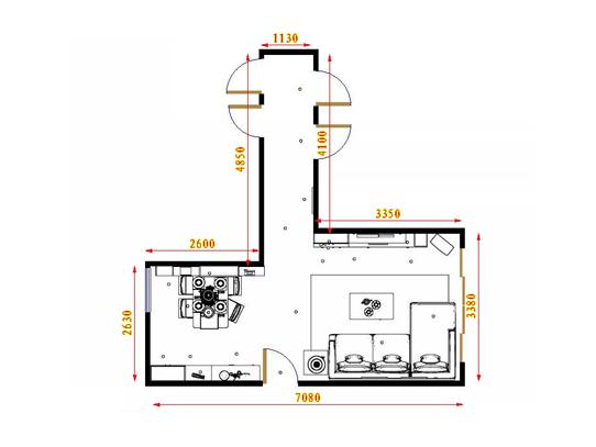 平面布置图北美枫情客餐厅G17082