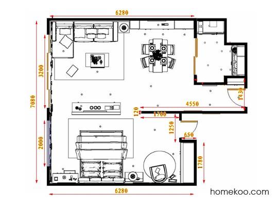 平面布置图乐维斯系列单身公寓17965