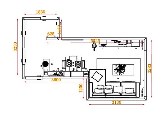 平面布置图乐维斯系列客餐厅G17088
