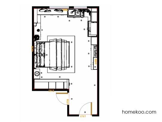 平面布置图斯玛特系列单身公寓16424