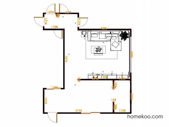 平面布置图中国韵客厅D16864