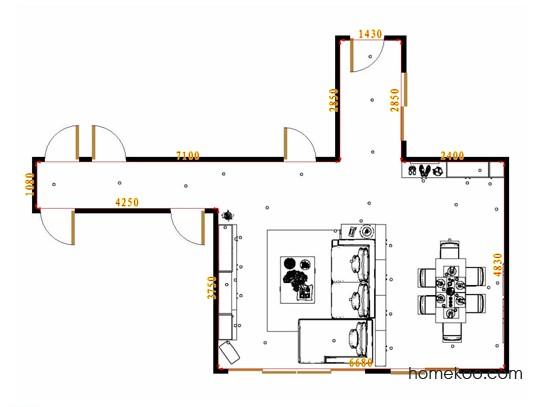 平面布置图乐维斯系列客餐厅G17100
