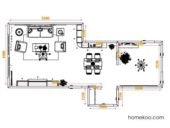 平面布置图斯玛特系列客餐厅G17111