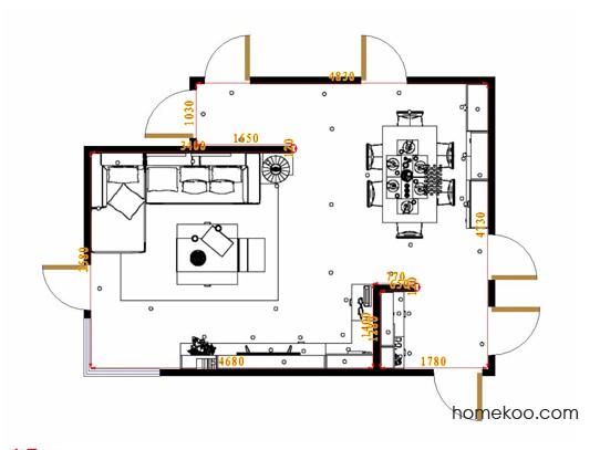 平面布置图柏俪兹系列客餐厅G17134
