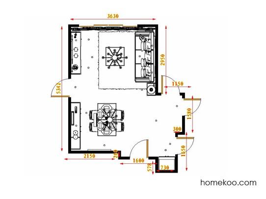 平面布置图乐维斯系列客餐厅G17153