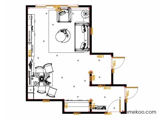 平面布置图斯玛特系列客餐厅G17158