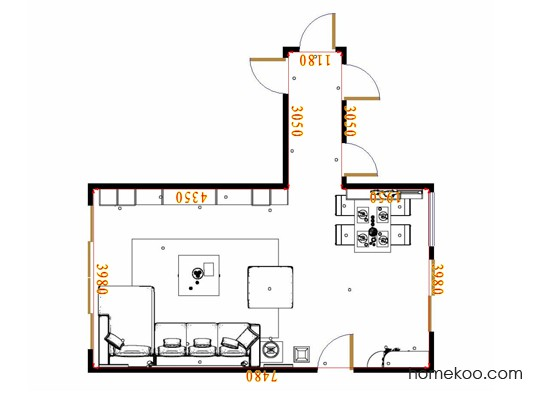 平面布置图德丽卡系列客餐厅G17163