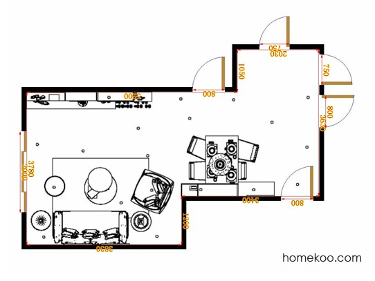 平面布置图德丽卡系列客餐厅G17172