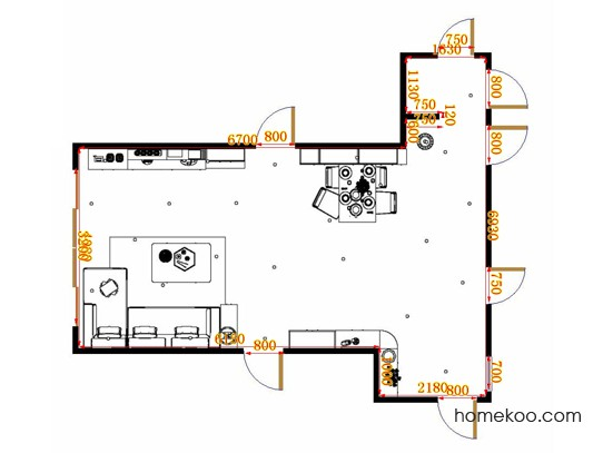 平面布置图贝斯特系列客餐厅G17182