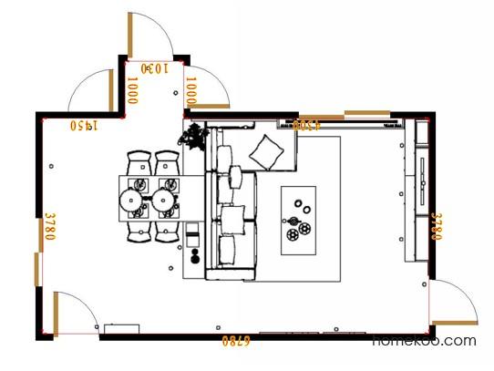 平面布置图柏俪兹系列客餐厅G17189