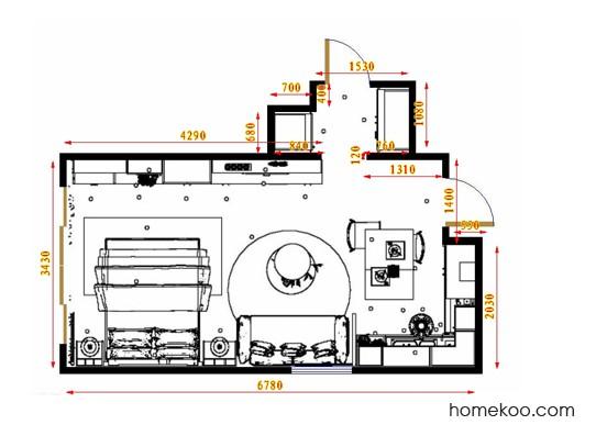 平面布置图贝斯特系列单身公寓18722