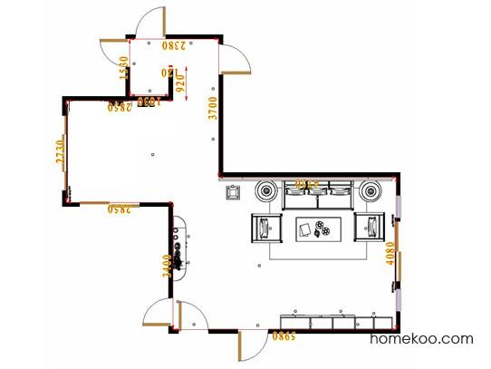 平面布置图格瑞丝系列客厅D16870