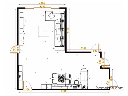 平面布置图斯玛特系列客餐厅G17255