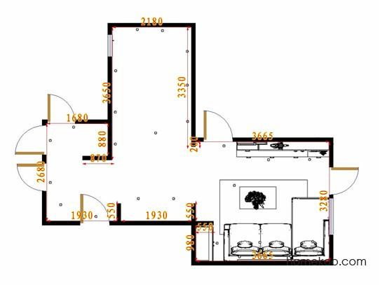 平面布置图德丽卡系列客厅D16874