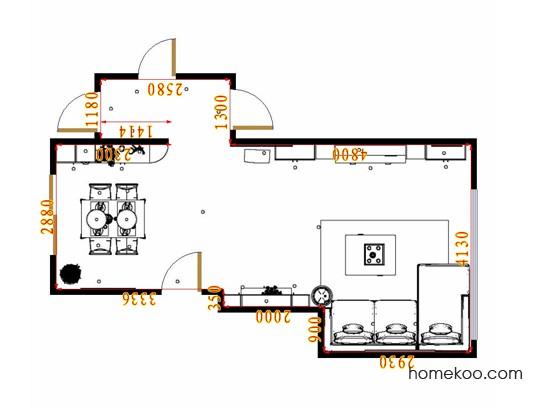 平面布置图德丽卡系列客餐厅G17267