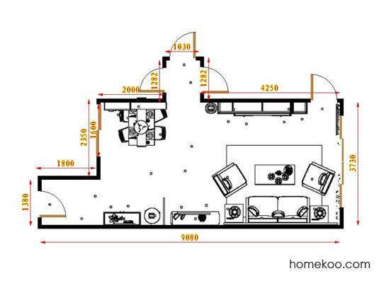 平面布置图柏俪兹系列客餐厅G17270