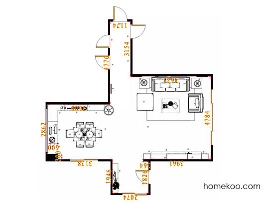 平面布置图乐维斯系列客餐厅G17279