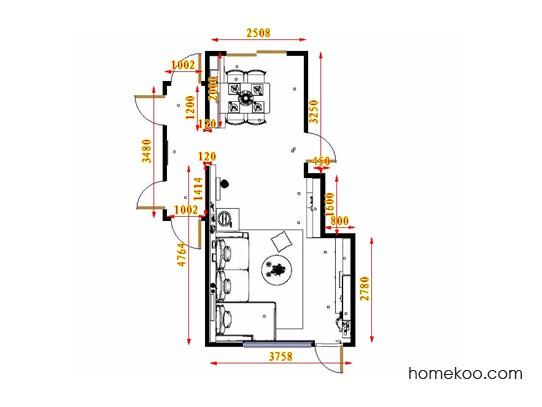 平面布置图贝斯特系列客餐厅G17282