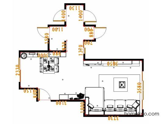 平面布置图加州梦客餐厅G17302