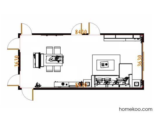 平面布置图贝斯特系列客餐厅G17307