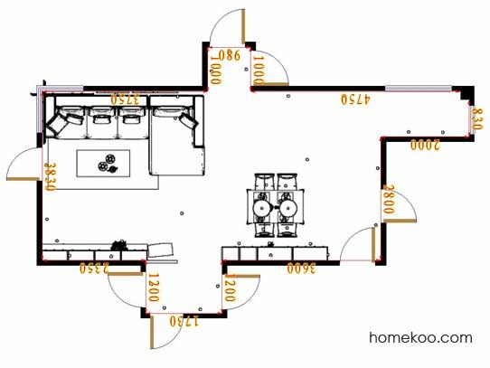 平面布置图柏俪兹系列客餐厅G17312