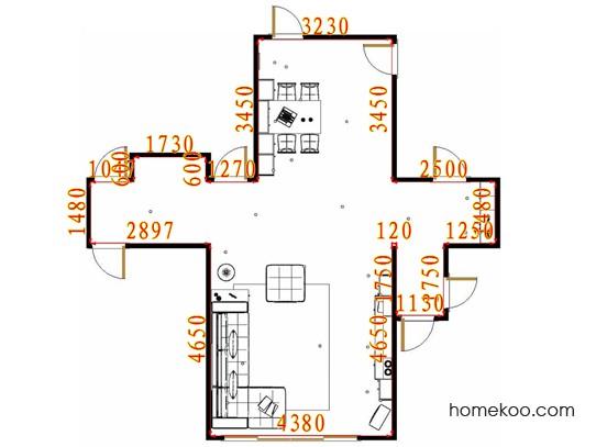 平面布置图德丽卡系列客餐厅G17317