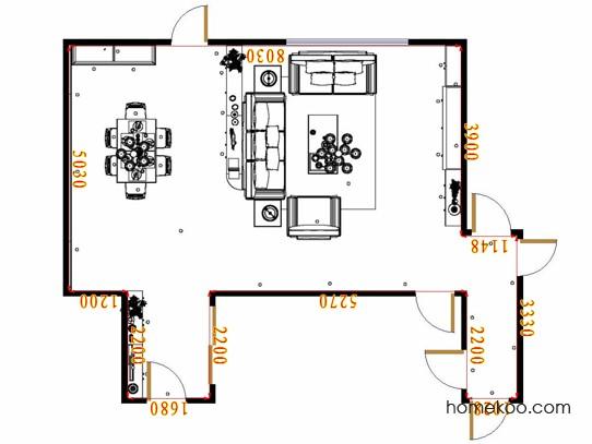 平面布置图贝斯特系列客餐厅G17329