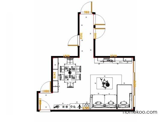 平面布置图北美枫情客餐厅G17334
