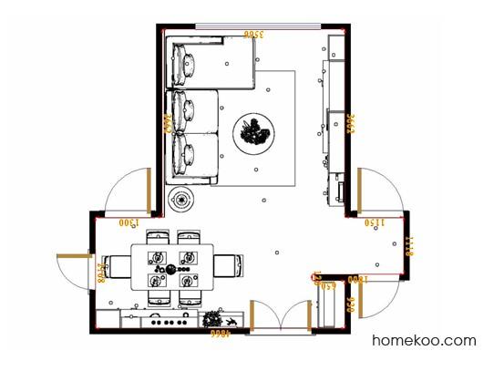 平面布置图斯玛特系列客餐厅G17345